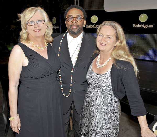 Wyllie O Hagan at the Cannes Film Festival with American film director Spike Lee. Photo: Andrew Ross