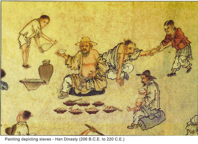 Painting depicting slaves - Han Dynasty (206 B.C.E. to 220 C.E.)