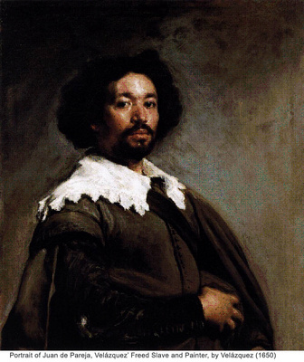 Portrait of Juan de Pareja, Velázquez' Freed Slave and Painter, by Velázquez (1650)