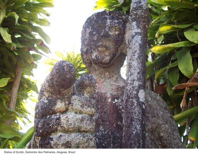 Statue of Zumbi, Quilombo dos Palmares, Alagoas, Brazil