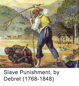 Slave Punishment, by Debret (1768-1848)