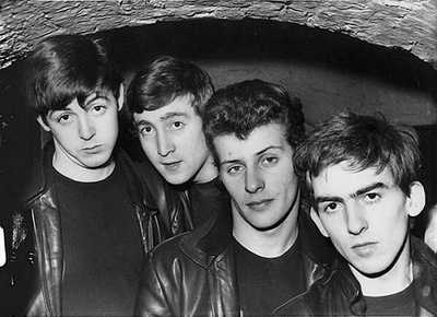 1962 The Beatles Consisting Of John Lennon Paul McCartney And George Harrison Replace Groups Drummer Pete Best With Ringo Starr